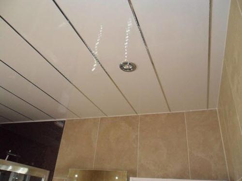 обшивка ванной пластиковыми панелями фото