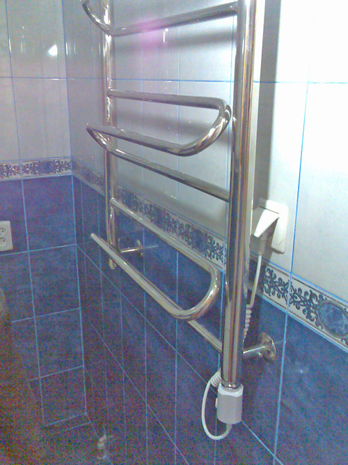 комбинированный полотенцесушитель для ванной своими руками