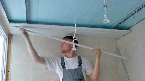 как установить реечный потолок самостоятельно