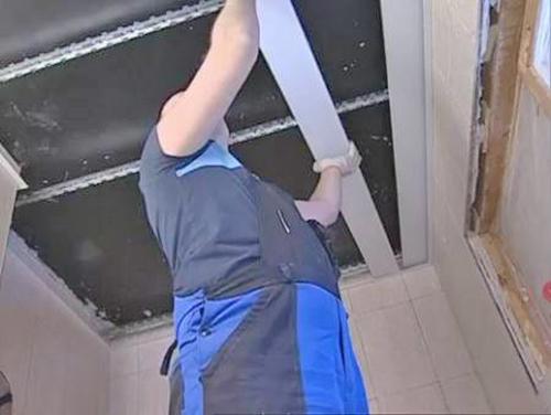 как устанавливается реечный потолок фото