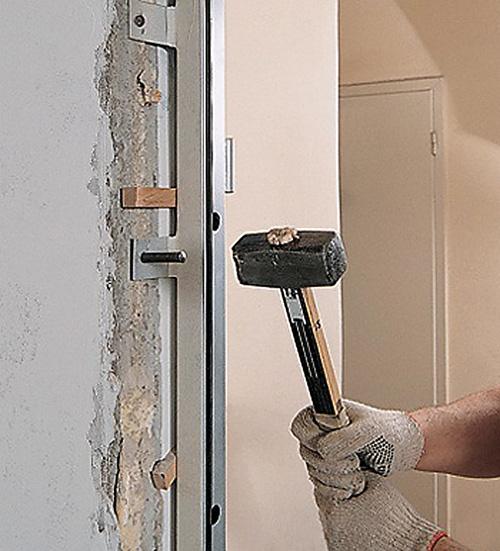 установка входных стальных дверей своими руками фото