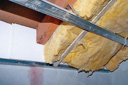 утепление потолка изнутри фото