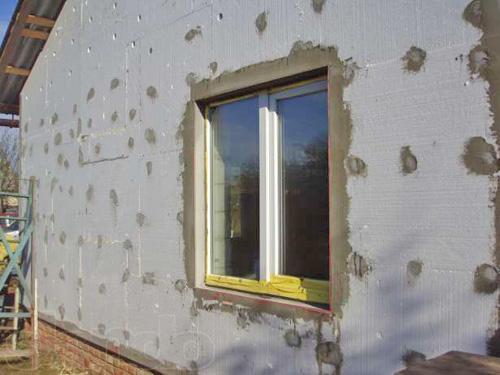 утепление стен снаружи пенопластом фото