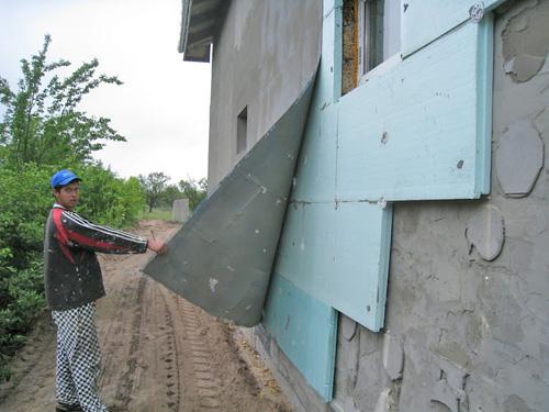 утепление наружных стен пенопластом своими руками