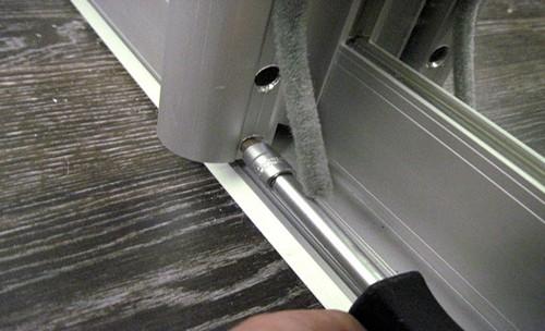 регулировка раздвижных дверей фото