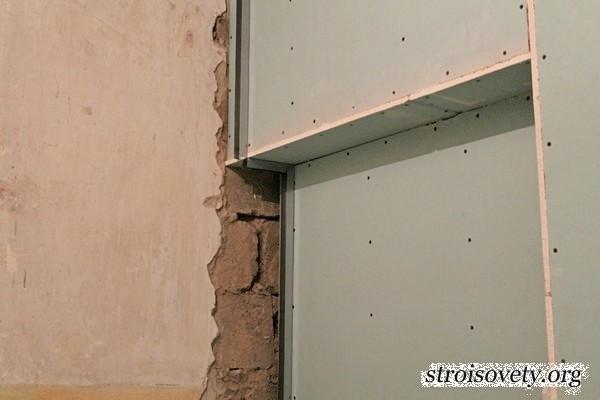 Как выравнивать стены гипсокартоном своими руками