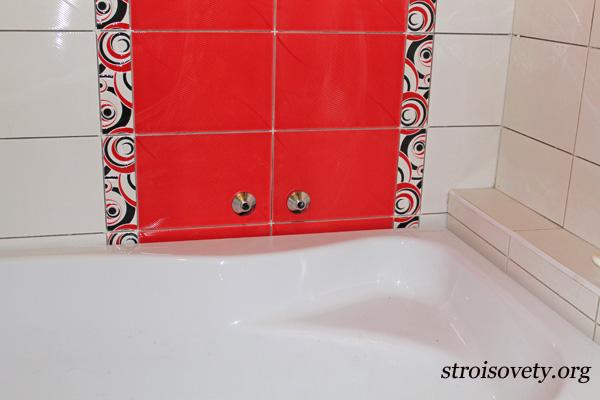 монтаж смесителя для ванной мастер-класс с фото