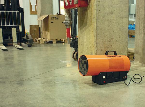 газовая тепловая пушка в работе фото