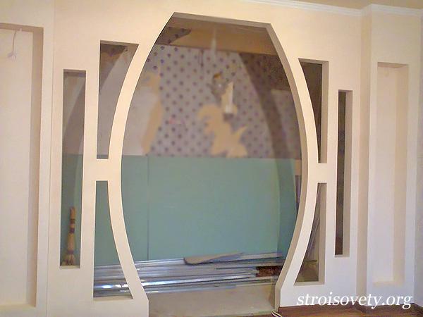 декоративная арка в квартире фото