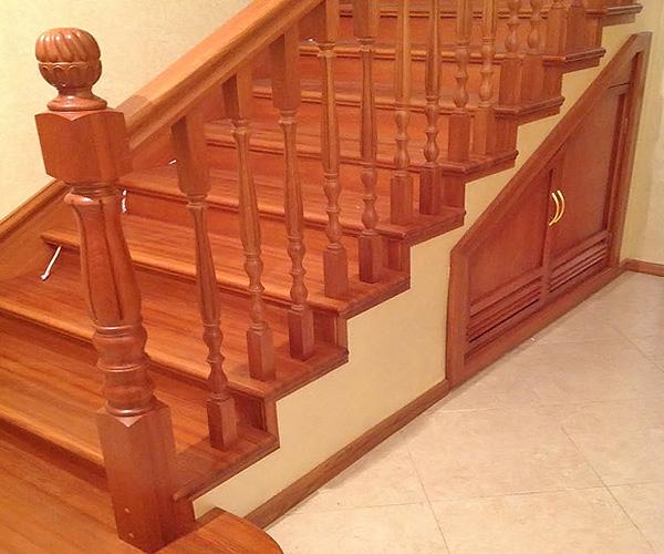 как декорировать бетонную лестницу фото