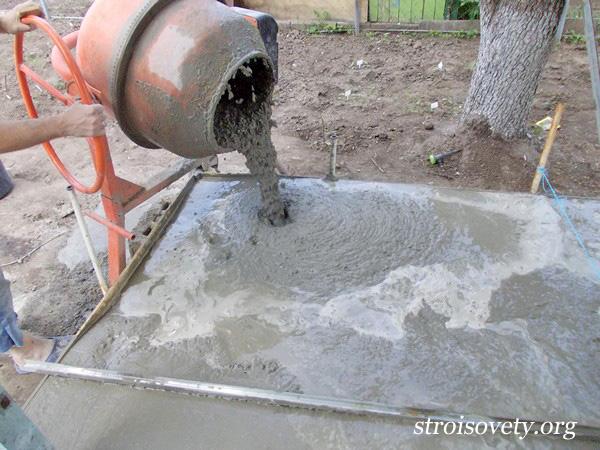 как вылить крыльцо из бетона фото