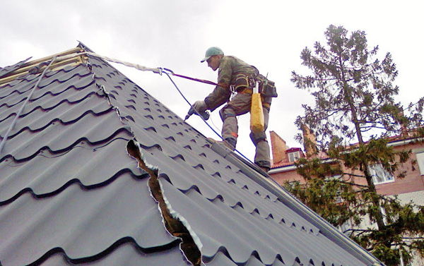 крыша из металлочерепицы своими руками фото