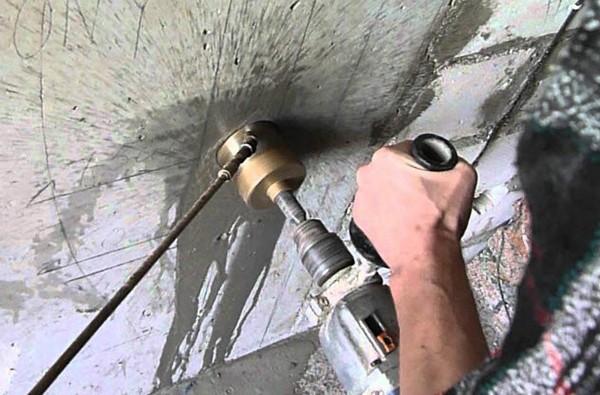 коронка для перфоратора по бетону фото