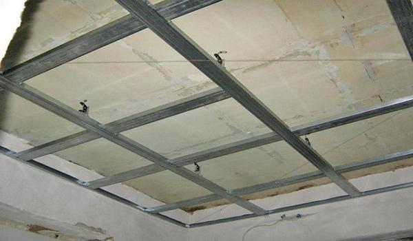 как сделать двухуровневый потолок из гипсокартона фото
