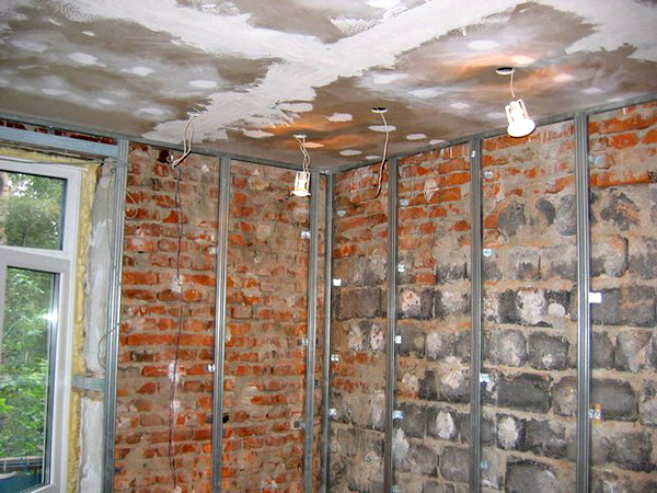 Каркас потолка из профиля под гипсокартон своими руками фото 306