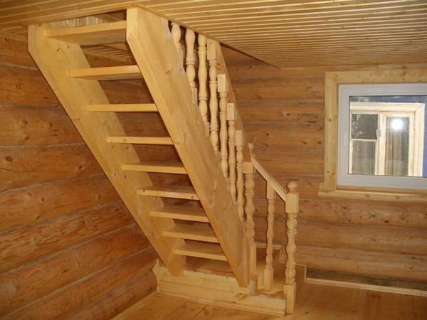 Лестница на мансарду в доме фото