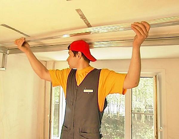 последовательность ремонта устройство потолков фото
