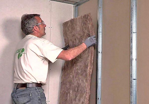 шумоизоляция стен из гипсокартона фото