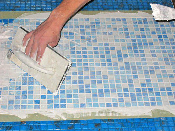 технология укладки плитки мозаики своими руками фото