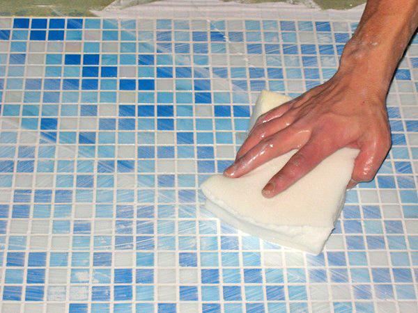 затирка швов плитки мозаики фото