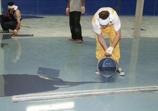 как залить наливной пол фото