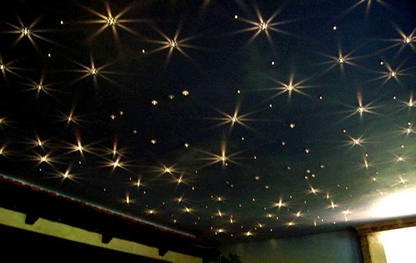 потолок из гипсокартона звездное небо фото