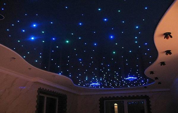 устройство потолка звездное небо