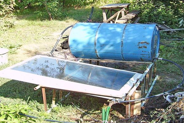 самодельный солнечный коллектор фото