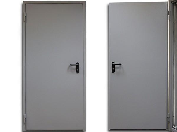 двери противопожарные металлические фото