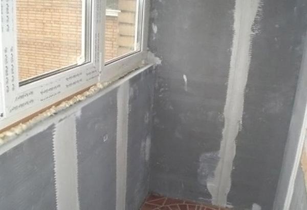 отделка балкона гипсокартоном своими руками фото