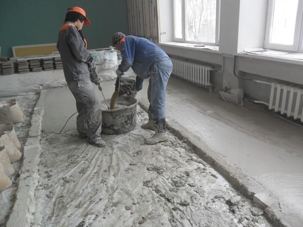 как заменить цементную стяжку пола