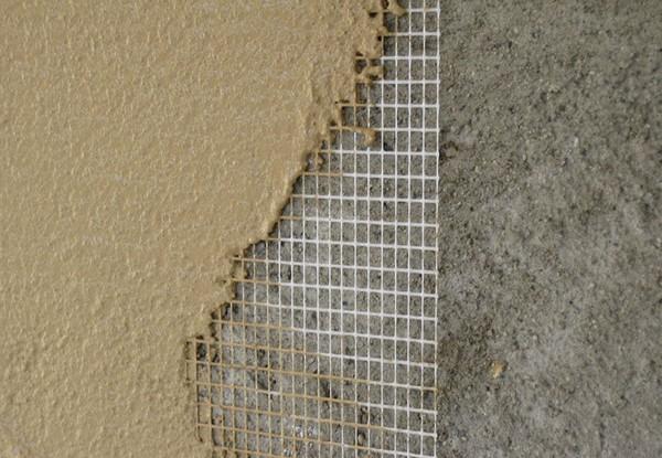 применение фасадной штукатурной сетки