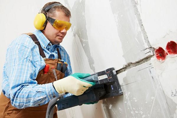 штробление стен своими руками фото