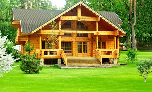 деревянные дома из клееного бруса фото