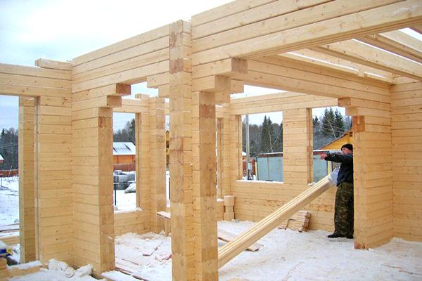 строительство двухэтажных домов из клееного бруса фото