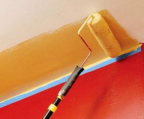 какие нужны инструменты для окрашивания потолка
