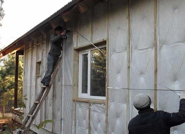 утепление фасада деревянного дома фото