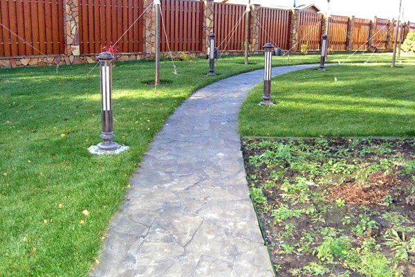 дорожки для сада своими руками из бетона