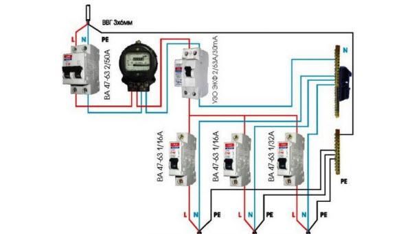 подключение осветительной цепи к электрическому щитку фото