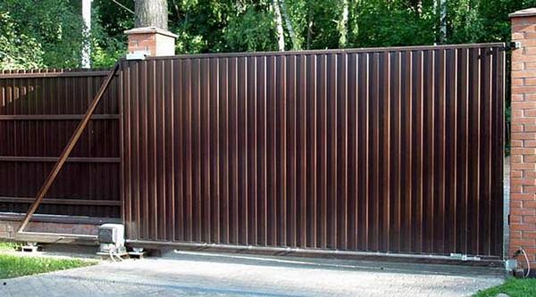 как изготовить ворота металлические раздвижные