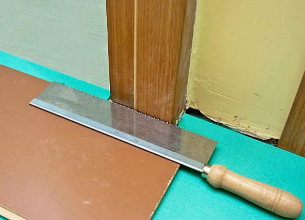 как применяется ножовка при укладке ламината