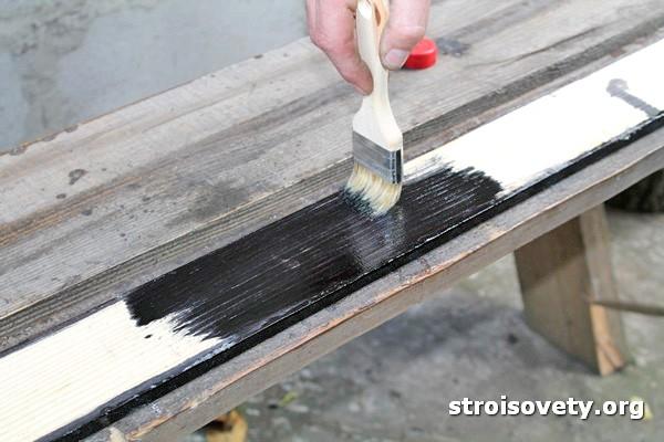 как покрасить дерево фото