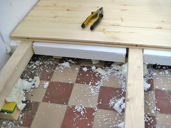 как сделать деревянный пол на лоджии своими руками