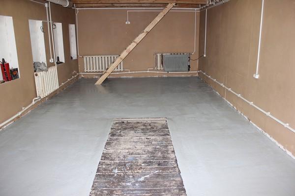 как сделать пол в гараже фото