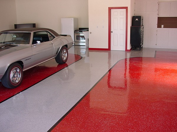 полимерный пол в гараже фото