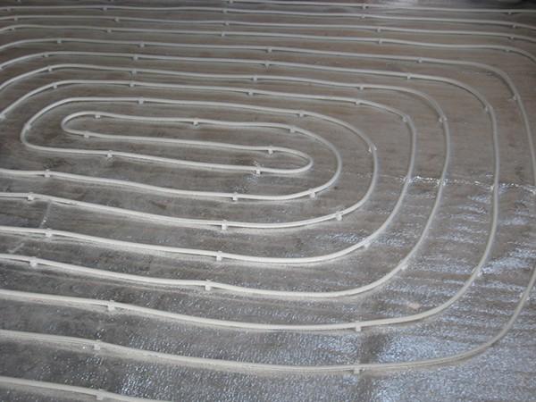 схема укладки теплого пола спираль фото