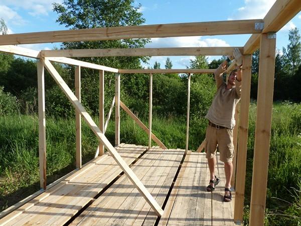 как построить сарай своими руками фото