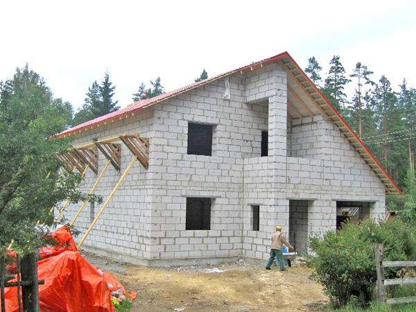 двухэтажный дом из газобетона фото