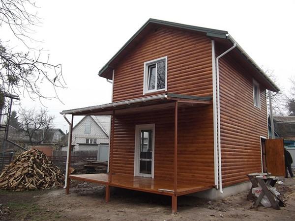 Дачный домик из шлакоблока своими руками фото
