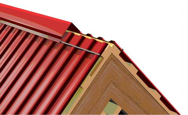 Как сделать конек на шатровой крыше 70